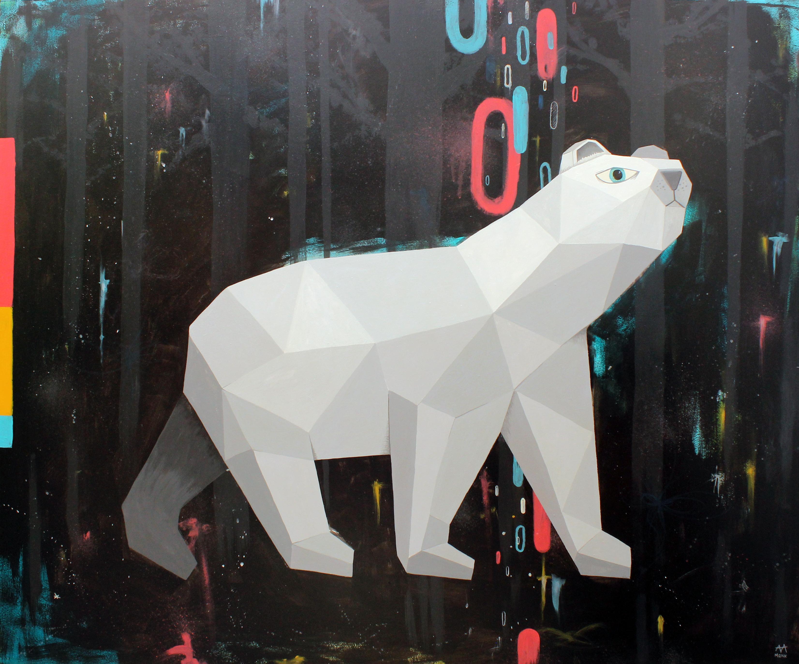 Andrés Agosin (Monk) - Ártico - 110 x 90 cm-2017 - acrílico sobre madera