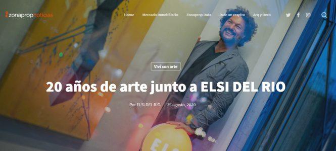 ELSI DEL RIO Arte Contemporáneo, 20 años de junto al arte. Nota para Zonaprop Noticias