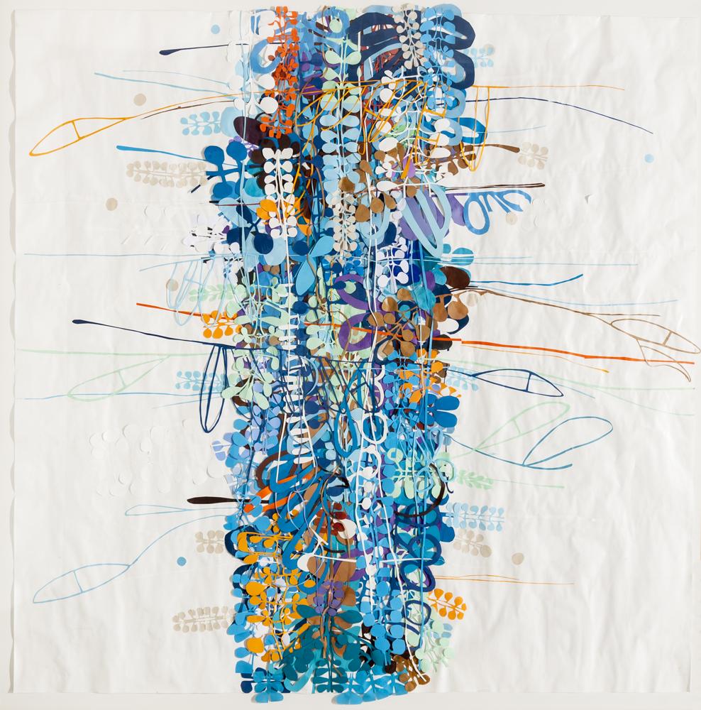 ST de la serie #monte, papel s/papel, 1,65 x 1,65 m, 2015