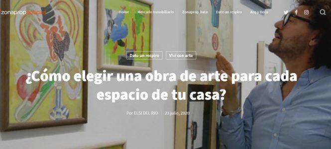ELSI DEL RIO colabora con Zonaprop Noticias / ¿Cómo elegir una obra de arte para cada espacio de tu casa?